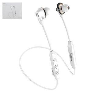 Гарнитура Baseus S10, вакуумные, беспроводные, белые, micro USB тип B, с micro USB кабелем тип В, #NGS10 02