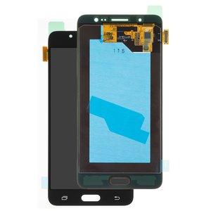 LCD Samsung J510 Galaxy J5 (2016), (black, with touchscreen, Original (PRC), original glass)