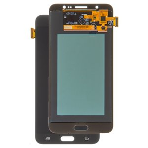 LCD compatible with Samsung J710 Galaxy J7 (2016), (black, with touchscreen, with light adjustable, (TFT), Copy)