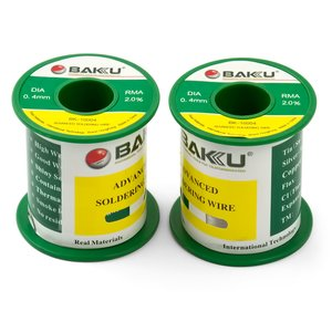 Solder BAKU BK-10004, (Sn 97% , Ag 0,3%, Cu 0,7%, flux 2%, 0,4 mm, 100 g)