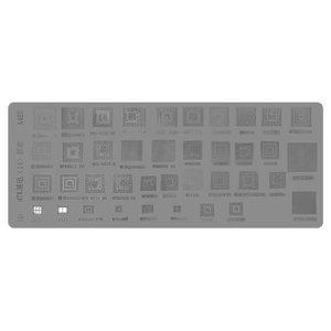 BGA Stencil A425, (SC6825C, MT6582, MT6575A, MT6572A, MT6285, MT6252CA, 39 in 1)