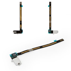 Cable flex para tablet PC Apple iPad Air 2, de conector de auriculares, con componentes, blanco