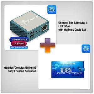 Octopus Box Samsung + LG с набором кабелей (19 шт.) Optimus + Активация Octopus/Octoplus Unlimited для Sony и Sony Ericsson