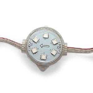 Комплект круглих LED-модулів (повноколірні, 6 світлодіодів SMD5050, 40 мм, IP67, 20 шт.)