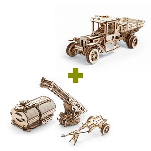 Mechanical 3D Puzzle UGEARS Bundle 2 in 1: UGM-11 Truck + Additions