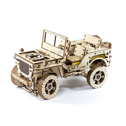 Деревянный механический 3D-пазл Wooden.City Автомобиль 4х4