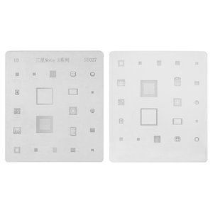 BGA Stencil S5027 for Samsung N9000 Note 3 Cell Phone, (21 in 1)