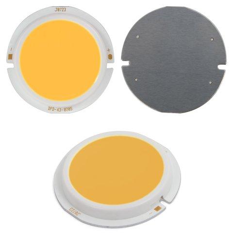 COB LED Chip 7 W warm white, 450 lm, 43 mm, 300 mA, 21 23 V