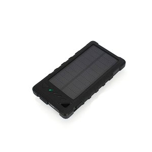 Portable Solar Charger 8000 mAh (2×USB, IP65, black)